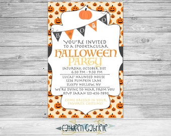 Halloween Party / Invitation / Printable