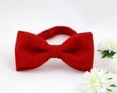 Bow Tie by BartekDesign: pre tied red wedding grooms proms men women