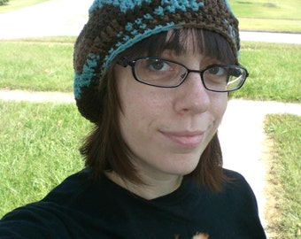 Crochet Beanie Hat With Brim