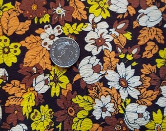 70's Flower power fabric 2metres