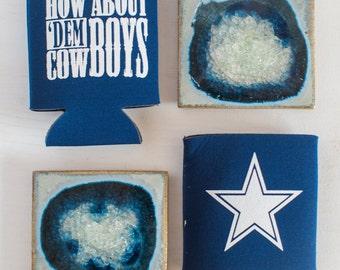 5 Dallas Fan Can Cooler SET