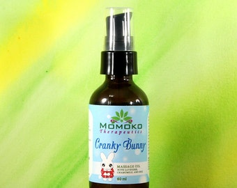 Cranky Bunny Baby Massage Oil (60ml): Organic Baby Massage for Colic