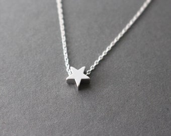 Thankful Sale 10% OFF  - tiny wishing star necklace - Silver Star Necklace
