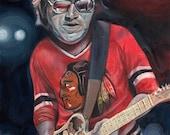 Portrait of Terry Kath : Guitarist for Chicago - 8x10 & 11x14 Archival Art Print by Scott Laumann