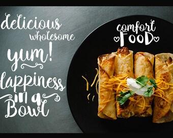 Food Blogger Photo Overlays, Food Overlays, Blogging Tools, Photoshop overlays Digital Art