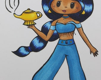 Custom Mini Copic Chibi Drawing