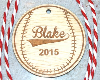 Gifts Tags Christmas, Gift Tags Personalized, Baseball Christmas Ornament, Holiday Ornament Baseball, Boys Christmas Ornament, Boys Baseball