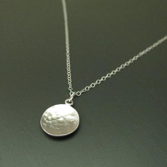 Silver Coin Necklace, Delicate Silver Necklace, Delicate Silver Chain, Thin Silver Chain, Dainty Silver Necklace, Sterling Silver Necklace