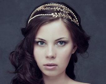 Roman Crystal Headband, Bridal Headband, Bridal Tiara