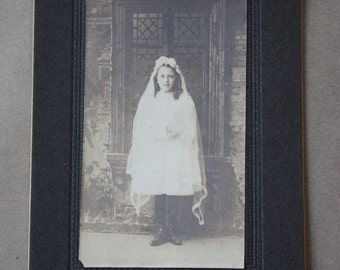 Antique, Early 1900s Confirmation Photo