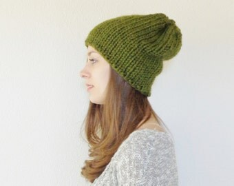 Knit Slouchy Hat // Knit Hat // Wool Knit Hat // THE HAAS