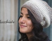 Slouch Hat + Cowl Crochet Pattern PDFs (The Macchiato Slouch Hat + Cowl Crochet Patterns by Little Monkeys Crochet) Cowl Crochet Slouchy