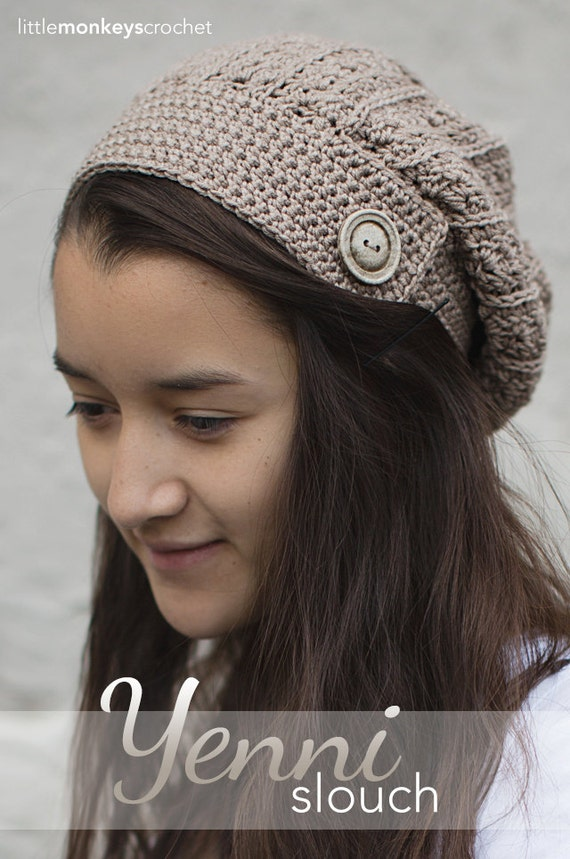 Crochet Hat Patterns With Cuff : Crochet Pattern Slouch Hat and Boot Cuffs by ...