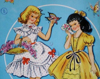 Vintage 1960s  Saalfield/Artcraft  #1744 Flower Girls Paper Dolls UNCUT **Epsteam