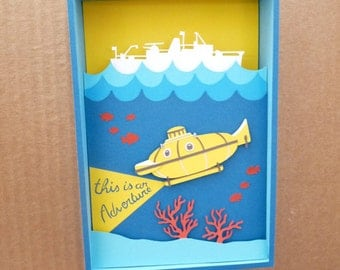 Box paper / paper cut / This is an adventure / Aquatic Life / Diorama