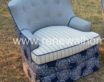 """ON SALE - In Stock - Custom Upholstered Club Chair - """"Nantucket Collection"""" - In Stock"""