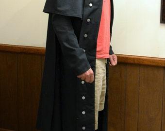 ASSASSINS CREED COSTUME  Long Coat with Detachable Cloak, Cape and Hood