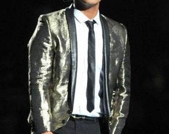 Bruno Mars GOLD LAME Jacket