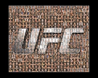 UFC Mosaic Print Art Featuring over 100 of the Greatest UFC Fighters of All Time.