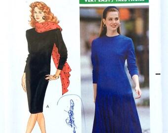 Women's Dress Pattern, Butterick 4296, Drindl Skirt or Straight Dress, Size 12, 14, 16, Fast & Easy, Uncut Pattern, Vintage Pattern