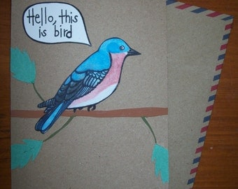 Handmade Bird Greeting Card