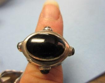 Sterling Silver Black Onx Ring sz 5