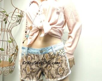 Gold Studded Wild Shorts size 7 or Medium
