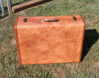 Hard Shell Suitcase Mottled Brown
