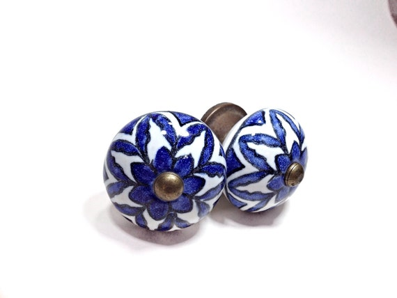 Large Antique Blue And White China Style Ceramic Knobs, Antique Drawer Pulls,  Cabinet Knobs, Distressed Knob, Historical Hardware From Fantasycottage On  ...