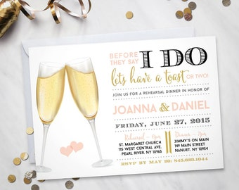 Before They Say I Do – Rehearsal Dinner Invitation 5 X 7  (Digital file)