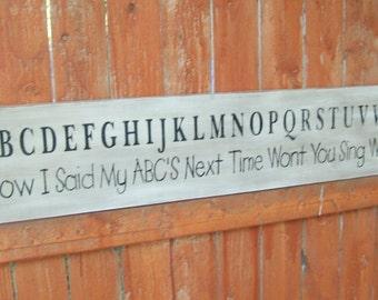handpainted alphabet sign