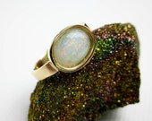 1.2 Ct. Australian Opal Ring 14K, Fire Opal, Studio Design Prototype, New by Tampico SF.