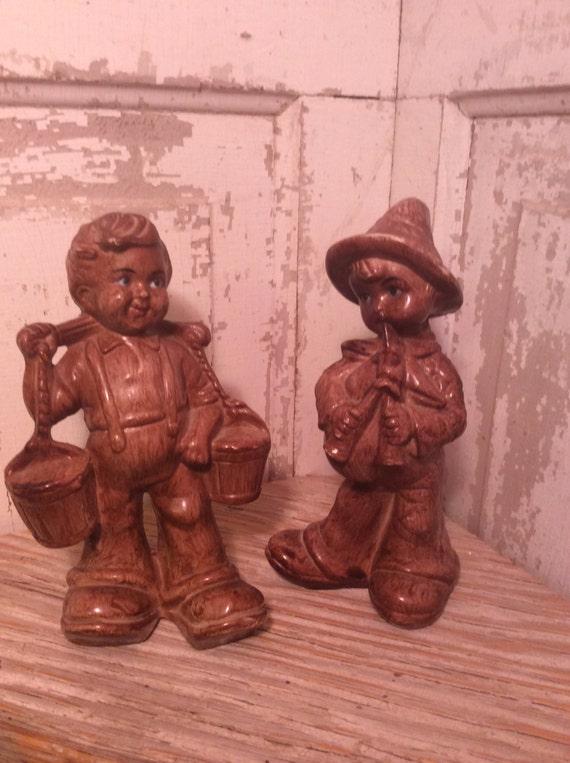Vintage Dutch figurines, cute figurines, vintage figurines, Made in Hong Kong, cute boy figurines, adorable figurines, retro figurines