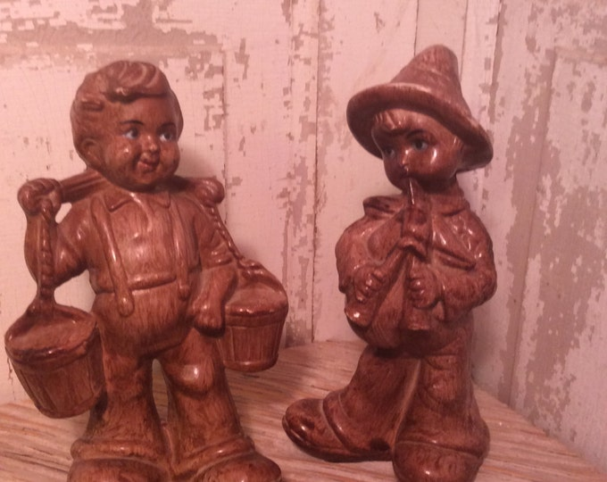 Vintage Dutch figurines, cute figurines, vintage figurines, Made in Hong Kong, cute boy figurines, adorable figurines, retro figurines