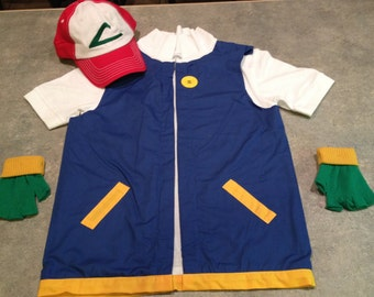 Toddler Size 2  2T Boy's POKEMON Trainer - ASH Ketchum Costume  -  Cosplay