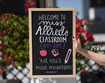 Custom Teacher Classroom Chalkboard