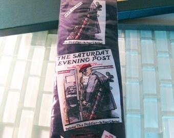 Norman Rockwell Silk Tie Hamption Hall Saturday Evening Post NIB