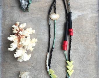 Gemstone Necklace - Mala Necklace - Opal Necklace - Long Necklace - Boho Jewelry - Statement Necklace - Labradorite Necklace - Wrap Bracelet
