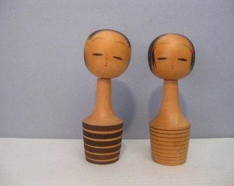 Vintage Pair Japanese Kokeshi Nodders