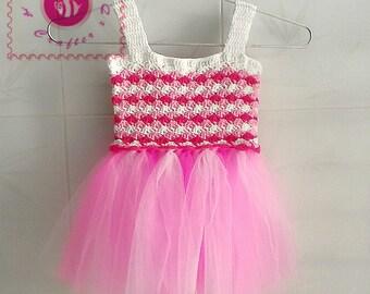 Crocheted candy baby tutu dress - free worldwide shipping