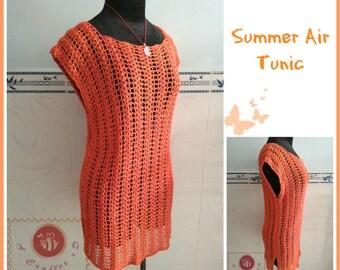 Summer air tunic pdf crochet pattern ( size S - 3XL )