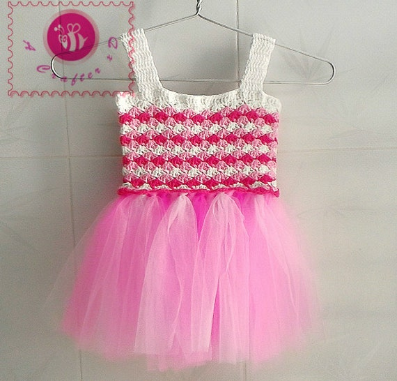 Free Crochet Pattern For Baby Tutu : Crocheted candy baby tutu dress free worldwide shipping