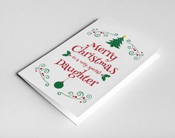 Daughter Christmas Card, Christmas Gift For Daughter, Daughter Card, Daughter in Law Gift, Christmas Daughter Card, Stepdaughter Card Xmas