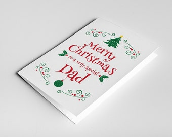 Dad Christmas Card, Dad Christmas Gift For Father, Dad Card, Father in Law Gift, Christmas Dad Card, Dad Present, Daddy Card