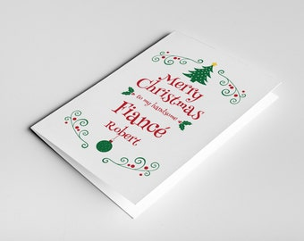 Fiance Christmas Card, Gift For Fiance, Romantic Christmas, Christmas Fiance Card, Fiance Xmas Card, Christmas Love