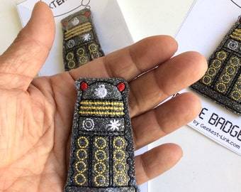 Embroidered Dalek Doctor Who Lapel Pin