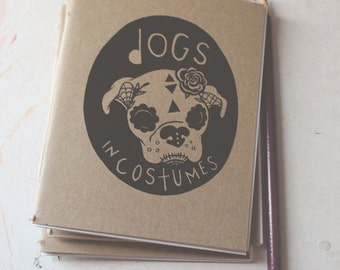 Dogs in Costumes, a cute mini coloring book