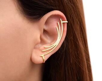 gold wings ear cuff with pearl ear cuff no piercing ear