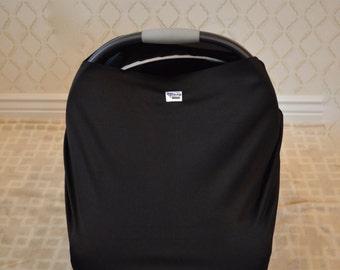 Solid Black Car Seat Cover/Nursing Cover