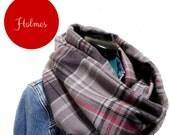 Soft Flannel Infinity Scarf  - Holmes